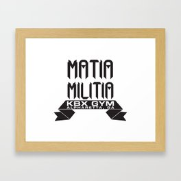 Matia Militia Framed Art Print