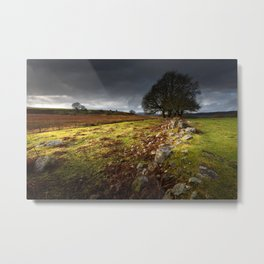 Approaching storm over Brecon, South Wales UK Metal Print