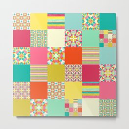 Patchwork Cheater Metal Print