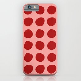 Irregular Polka Dots pink and red iPhone Case