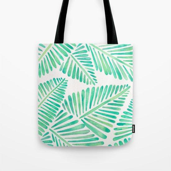 Tropical Banana Leaves – Mint Palette Tote Bag
