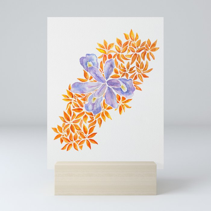 Iris and Butterfly Weeds Mini Art Print