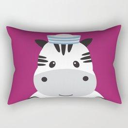 Sailing Zebra Rectangular Pillow