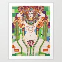 vagina Art Prints featuring Vagina Monologues by Morgan Fay