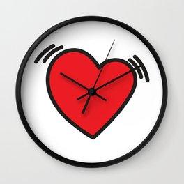 Beating heart Wall Clock