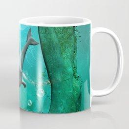 Swimming dolphin Coffee Mug