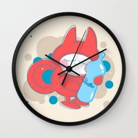 vodka Wall Clocks featuring Vodka Love:) by eva kratschmer