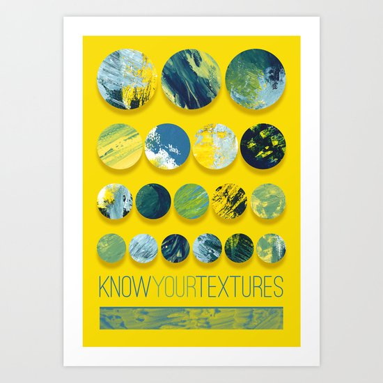 Know Your Textures Art Print