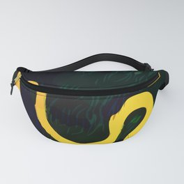 Gold River Abstract Landscape Fanny Pack