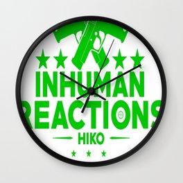 Inhuman Reactions Wall Clock