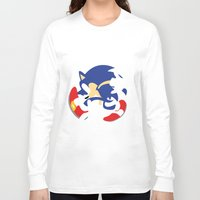 sonic Long Sleeve T-shirts featuring Sonic by JHTY