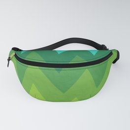 Green Summer Forest Fanny Pack