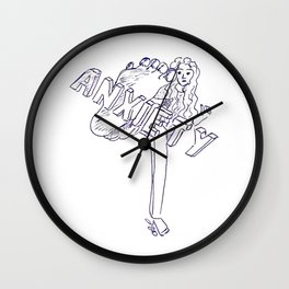 Fighting anxiety Wall Clock