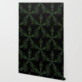 Neon black star pattern Wallpaper