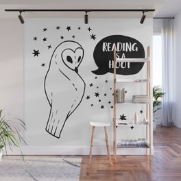 Reading is a Hoot Wall Mural