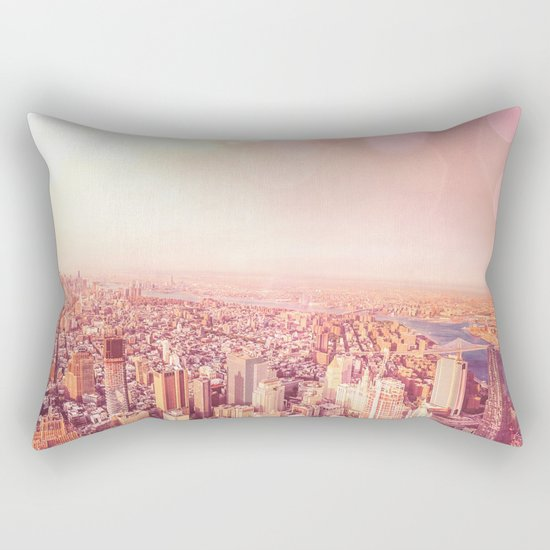 New York City Skyline of Light Rectangular Pillow
