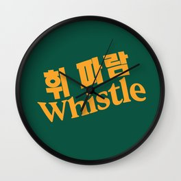 Whistle Typography BLACKPINK Wall Clock