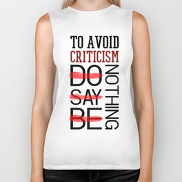 Lab No. 4 Do Say Be Nothing Elbert Hubbard Famous Motivational Quotes Biker Tank