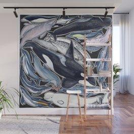 Dolphin, orca, beluga, narwhal & cie Wall Mural