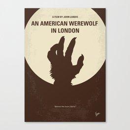 No593 My American werewolf in London minimal movie poster Canvas Print