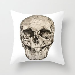 Human Skull En Face Throw Pillow