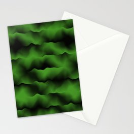 Emerald Green Waves Stationery Cards