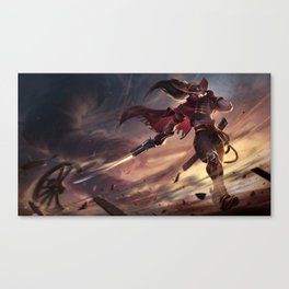 High Noon Yasuo League Of Legends Canvas Print