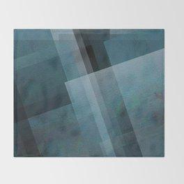 Blends of Blue - Digital Geometric Texture Throw Blanket