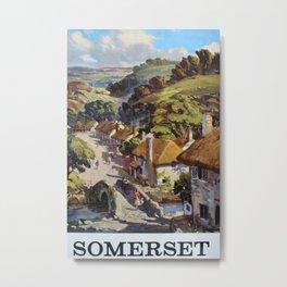 Somerset Vintage Travel Poster Metal Print
