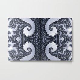Fractal Art - Glacier I Metal Print
