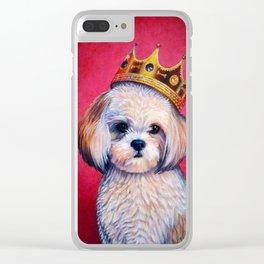 Shih-Tzu Pet Portrait - Animal Portrait Series Clear iPhone Case