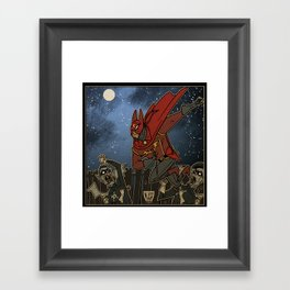 Doctor Chiroptera and the Vampire Mods of Dockside Framed Art Print