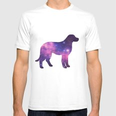 SPACE DOG MEDIUM White Mens Fitted Tee