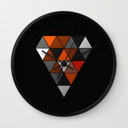 Metallic Diamond Wall Clock