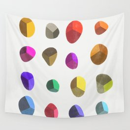 Painted Pebbles 2 Wall Tapestry
