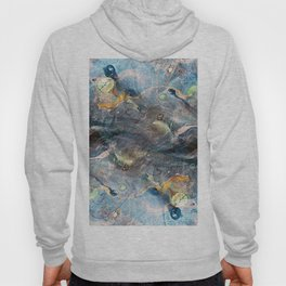 whimsical abstract paint image Hoody