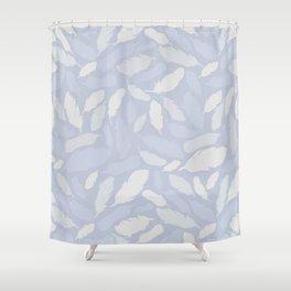 Feather Pattern Light Blue Shower Curtain