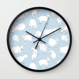 Goats Playing – Blue Wall Clock