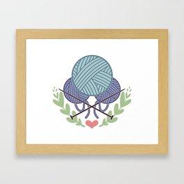 Knitting Framed Art Print