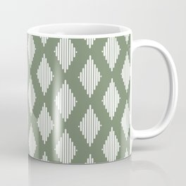 Diamond Lines / Sage Coffee Mug