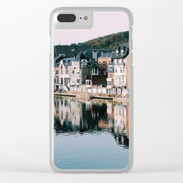 VILLAGE - HOUSE - RIVER - REFLECTION - PHOTOGRAPHY Clear iPhone Case
