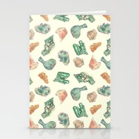 minerals Stationery Cards featuring Myriad Minerals by Portable City Illustration