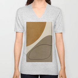 Organic Abstract Shapes #3 Unisex V-Neck