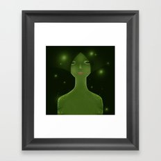 Woman_snake Framed Art Print