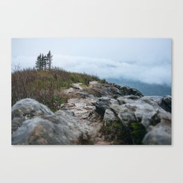 Trail to the clouds Canvas Print