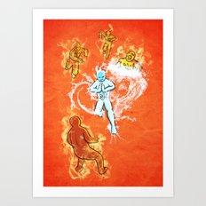 Elemental War Art Print
