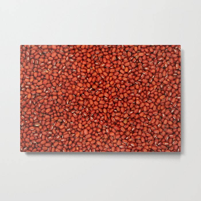 Red Beans pattern Metal Print