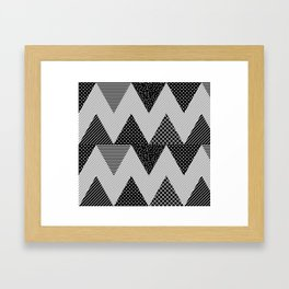 Neo Memphis Background 1 Framed Art Print