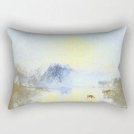 Norham Castle:Sunrise; After Turner Rectangular Pillow