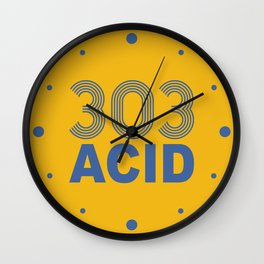 303 Acid Rave Quote Wall Clock